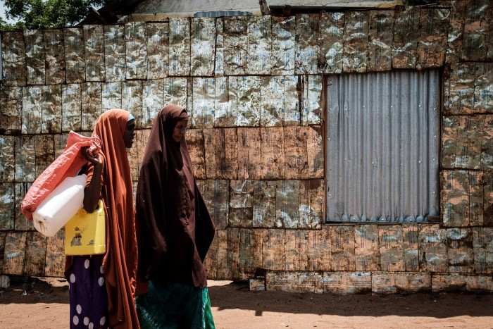 Women at the Dadaab refugee complex, in north-eastern Kenya