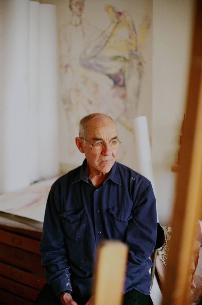 Howard Tangye in his north London studio