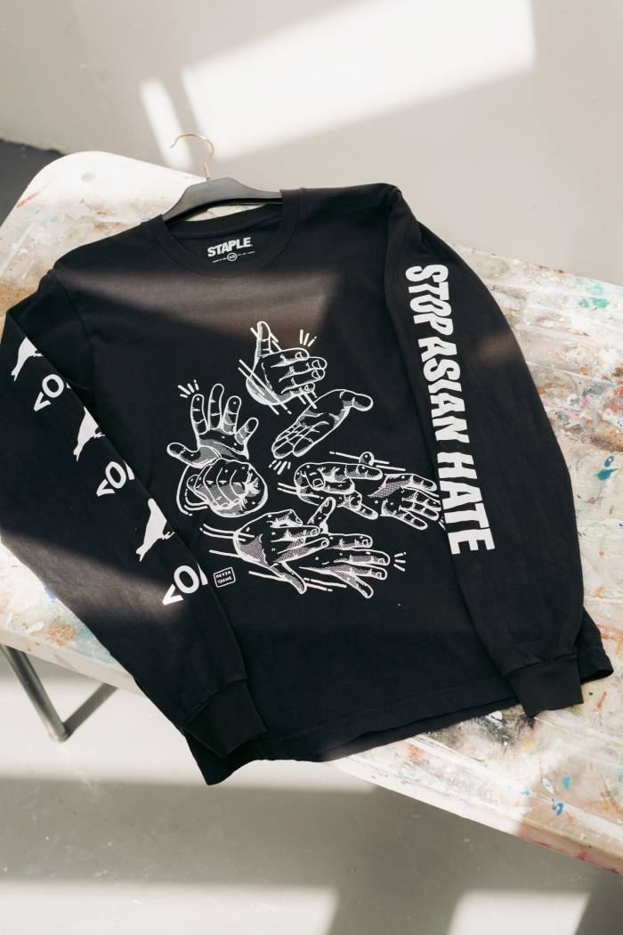 The last item of clothing she bought: Staple Pigeon sweatshirt, $50