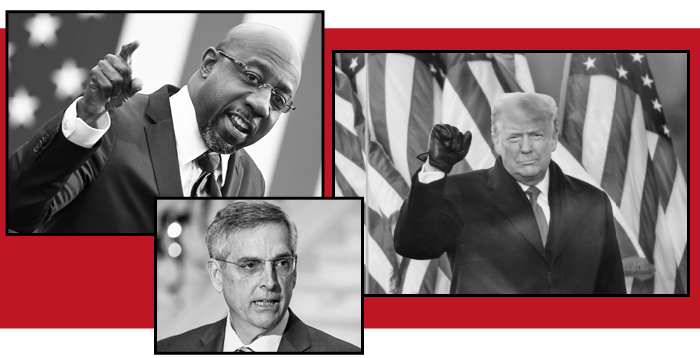 Democrats Raphael Warnock and Jon Ossoff won the Senate seats in Georgia on Tuesday. Donald Trump had pressured Georgia's Republican secretary of state, Brad Raffensperger, to 'find' the votes that would flip the state to the Republicans