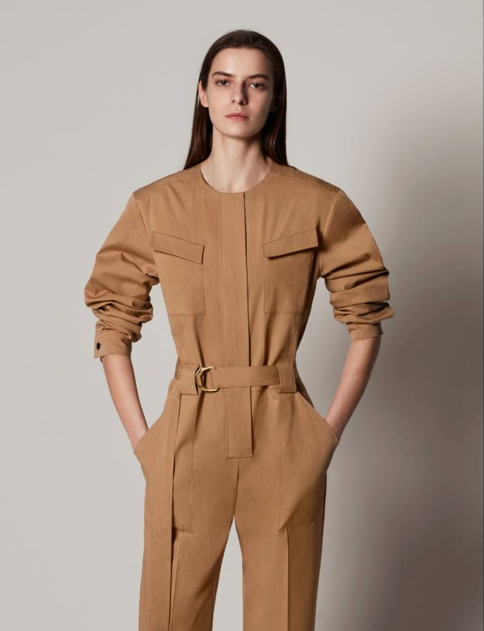 Another Tomorrow cotton jumpsuit, $890