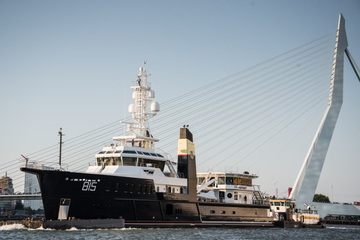 74m expedition yacht Sherpa, launched in 2018 with an estimated cost in excess of $120m