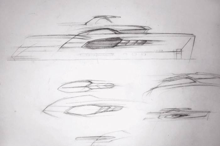 The first pencil sketches of 7 Diamonds