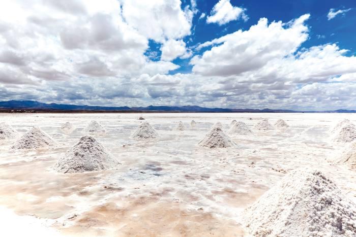 The salt flats of Salar de Uyuni, Bolivia
