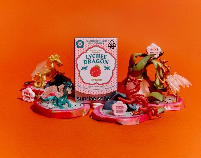 Sundae School has launched cannabis-infused lychee, dragon fruit and yuzu-flavoured mochi gummies