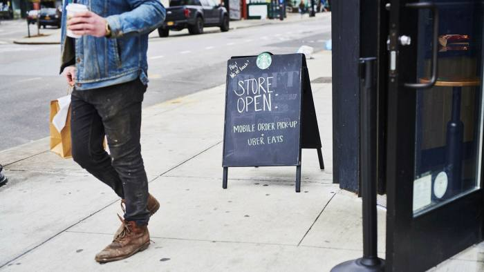 Starbucks swiftly started a mobile order pick-up system, allowing outdoor coffee collection