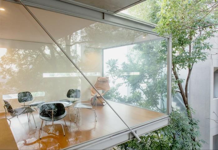 An external view of Ando's Osaka studio