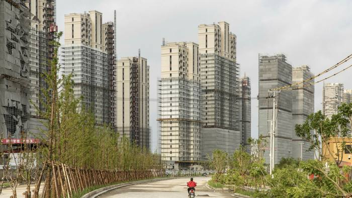 An under construction residential housing development in Shanghai, China