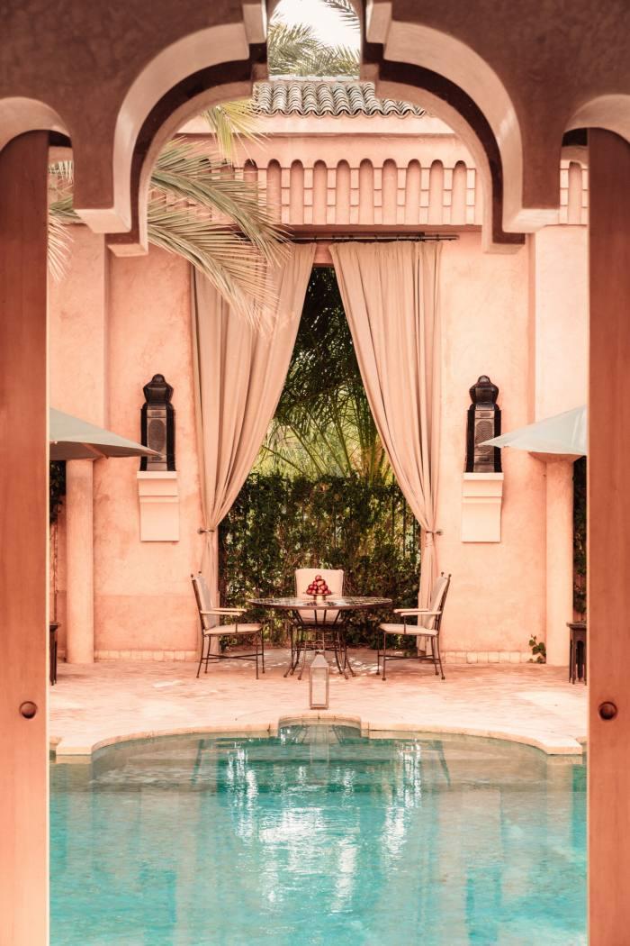 The pool suite at Amanjena