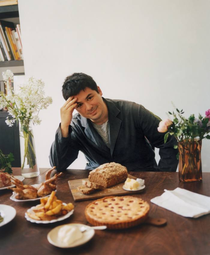 Max Rocha in his kitchen in London for How To Spend It