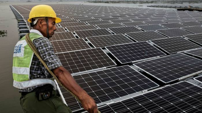 A solar farm in China