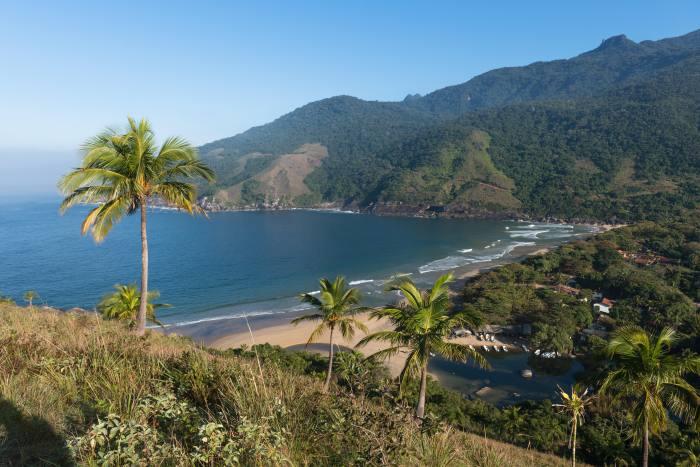 Bonete Beach, on the island of Ilhabela, Brazil