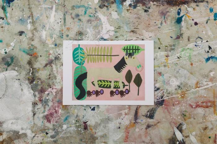 A souvenir postcard from Summertime Gallery, New York
