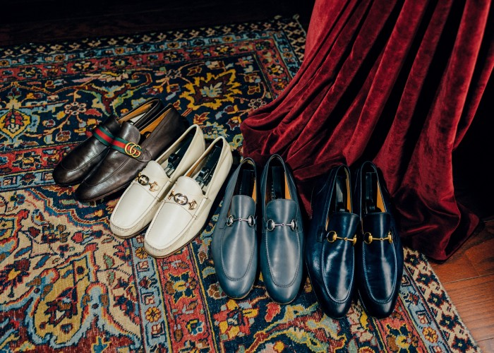 Gucci loafers in four different colours