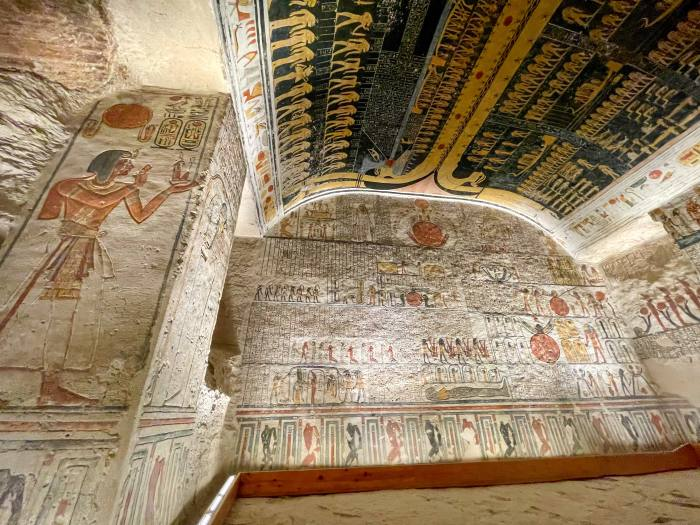The interior of the temple of Ramesses IV