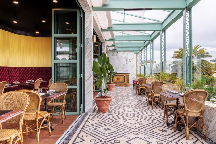 The terrace at Gucci Osteria with its retractable roof