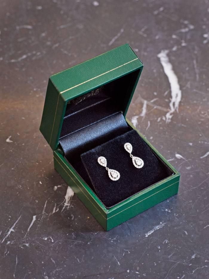 Kling's vintage diamond drop earrings from Kaplans