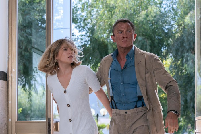 Craig, pictured with Léa Seydoux, wears a Massimo Alba suit and Brunello Cucinelli shirt