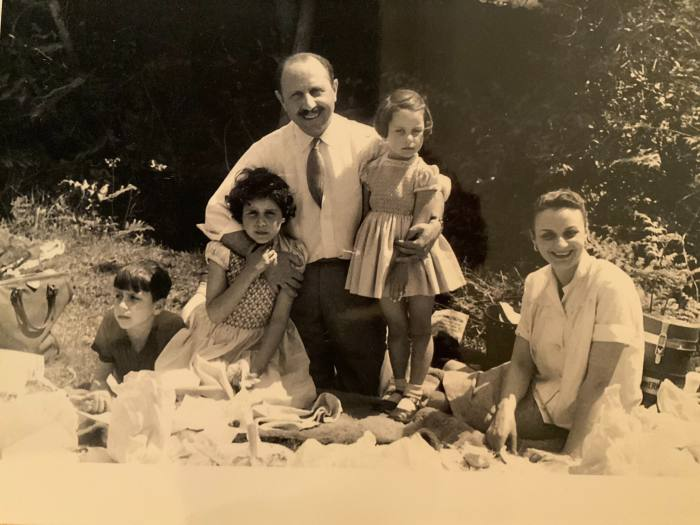 Rocco, Olga and Louise Forte with their parents, Lord and Lady Forte, in the 1950s