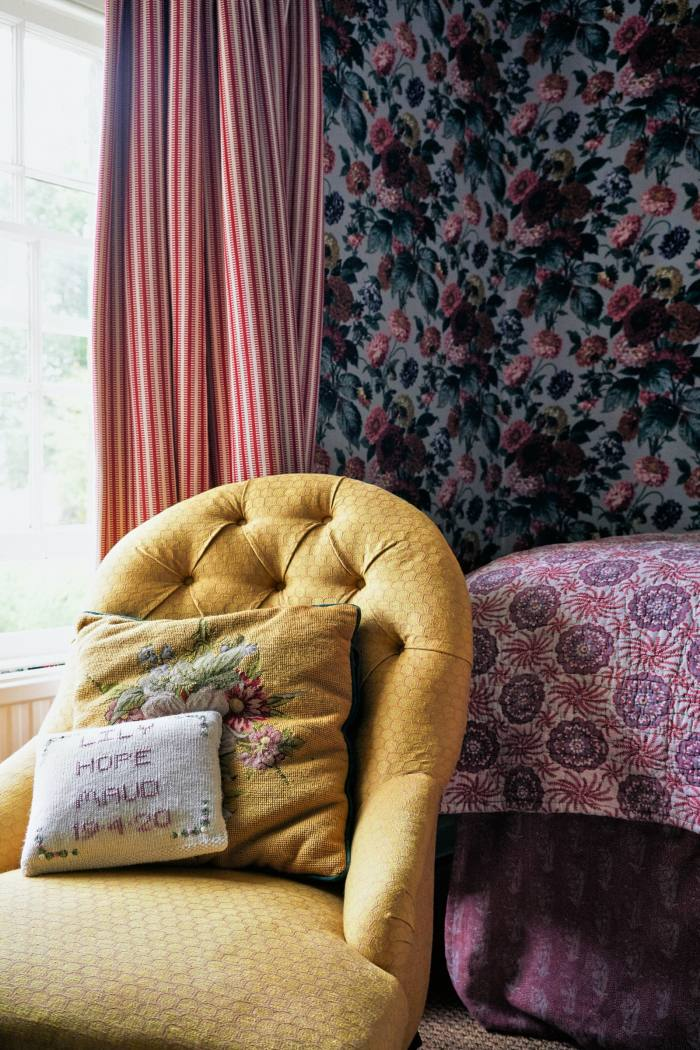 The dahlias bedroom at Soames's home