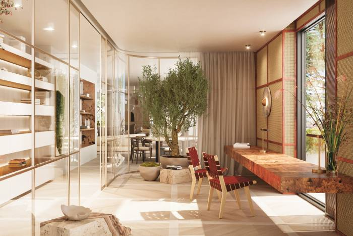 An apartment in Bosco Verticale, Milan