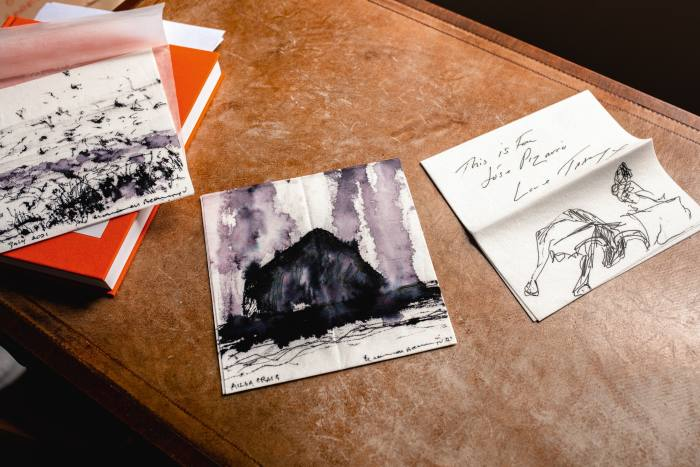 Napkins illustrated by Norman Ackroyd and Tracey Emin