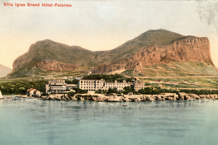 A 1912 postcard of the Villa Igiea