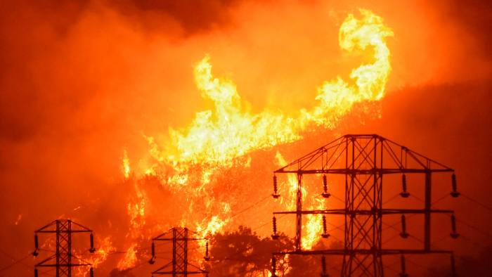 Extreme weather events such as wildfires and heatwaves are heightening the risk of blackouts