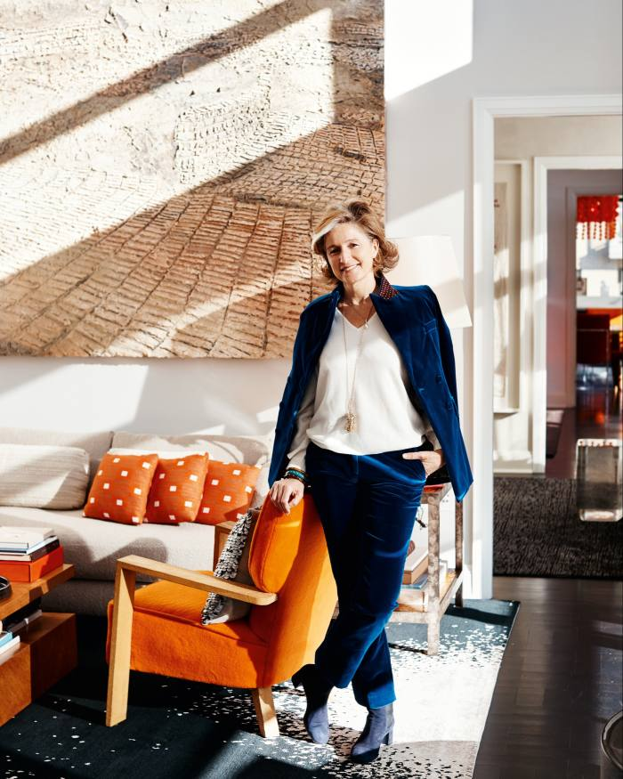 Dominique Lévy at home in New York