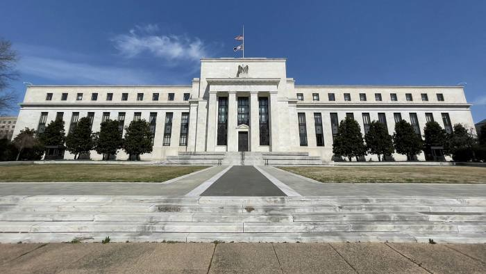 The Federal Reserve building in Washington, DC