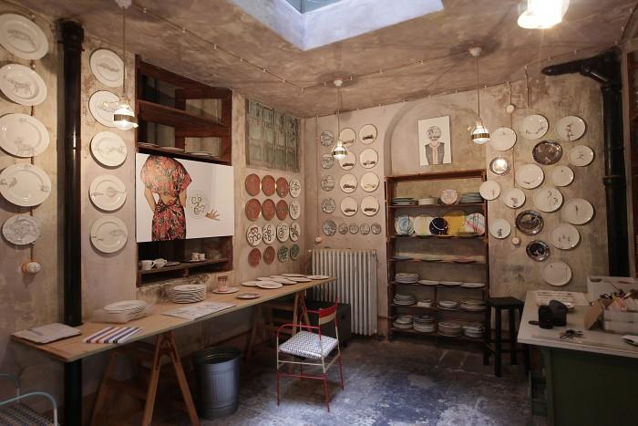 The Laboratorio Paravacini tableware workshop in Milan