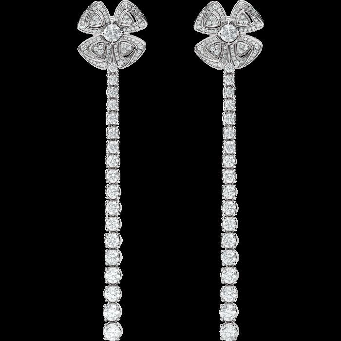Bulgari white-gold and diamond Fiorever earrings, £23,700