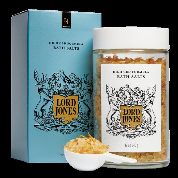 Lord Jones High-CBD Formula bath salts,$65