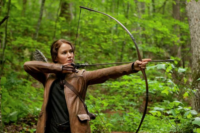 In 'The Hunger Games' Katniss was forced to rely on her skills to survive