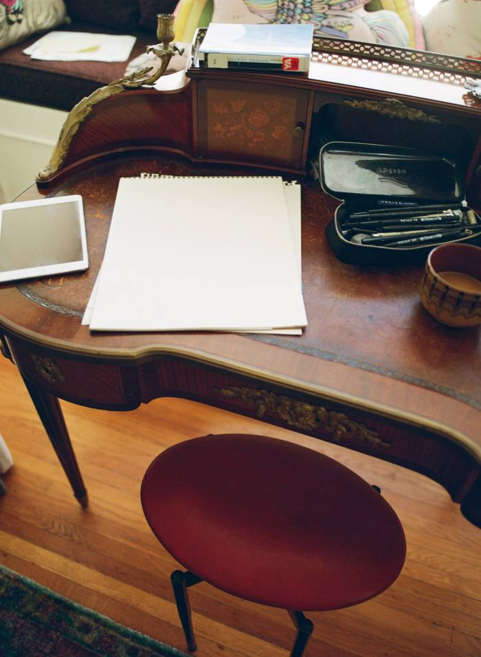Wainwright's writing desk in his bedroom