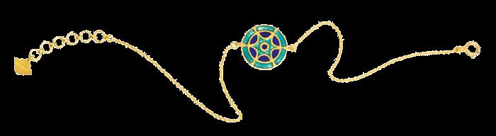 Amrapali gold and enamel holicolour bracelet, £585