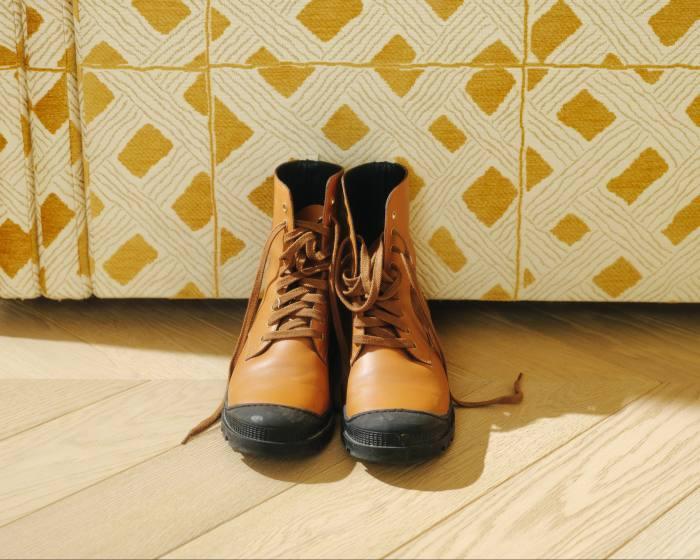 Gonzalez's Loewe boots for construction sites
