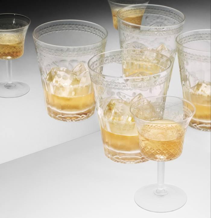 Seventy One Gin's new Regency-style glasses