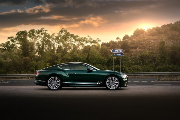 The GT Speed Verdant being put through its paces in Sicily