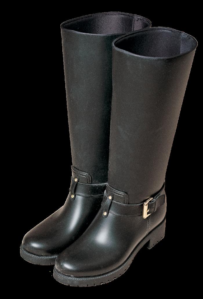 Her Mulberry biker boots