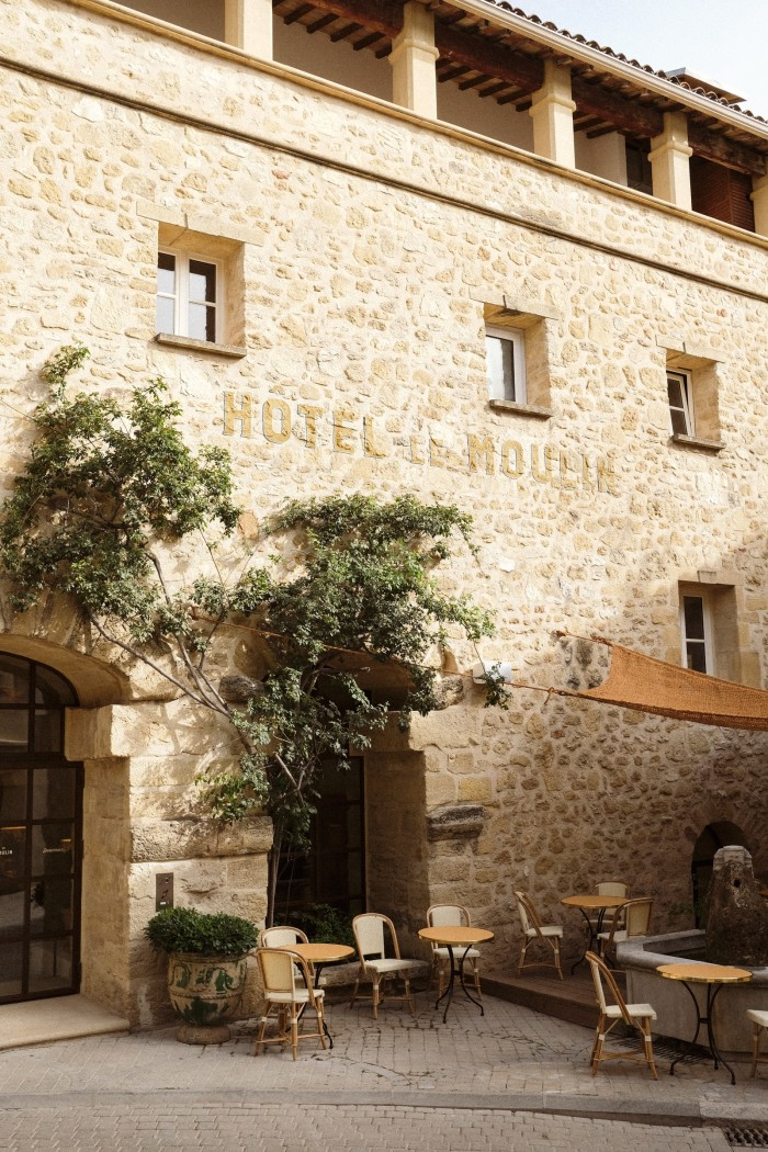 Le Moulin de Lourmarin is in a converted olive-oil mill